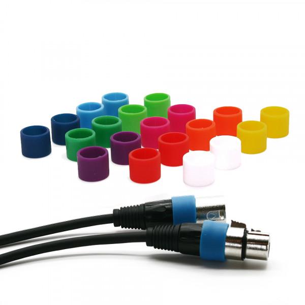 Farbige Codierungsringe (S) für XLR kabel