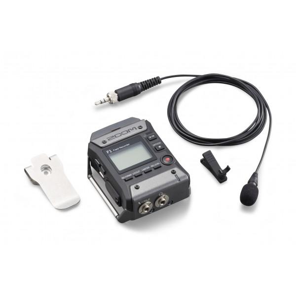 ZOOMF11-LP field recorder met lavalier microfoon