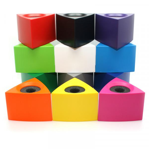Mikrofonwürfel Prism farbig unbedruckt