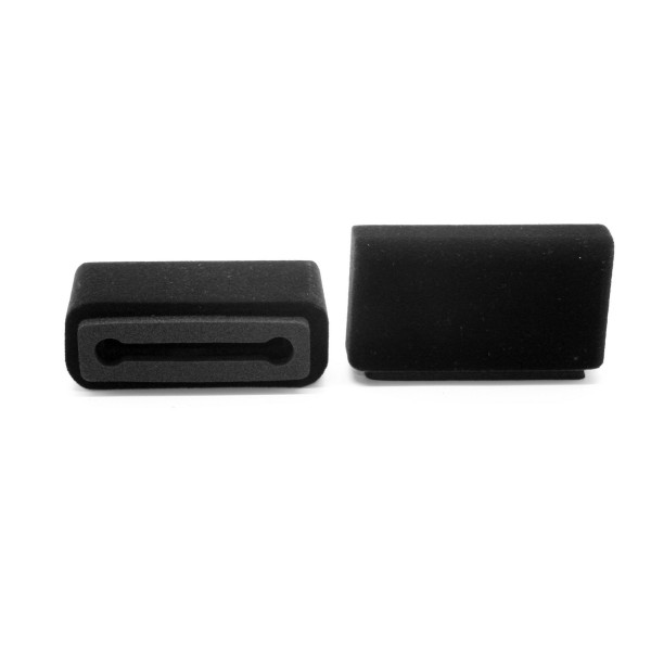 Windschutz für Samsung Galaxy und IPhone 10 / X, schwarz Beflockt