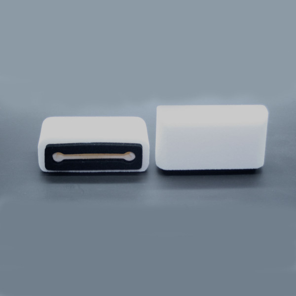 Windschutz für iPhone 6 und höher weiss Beflockt