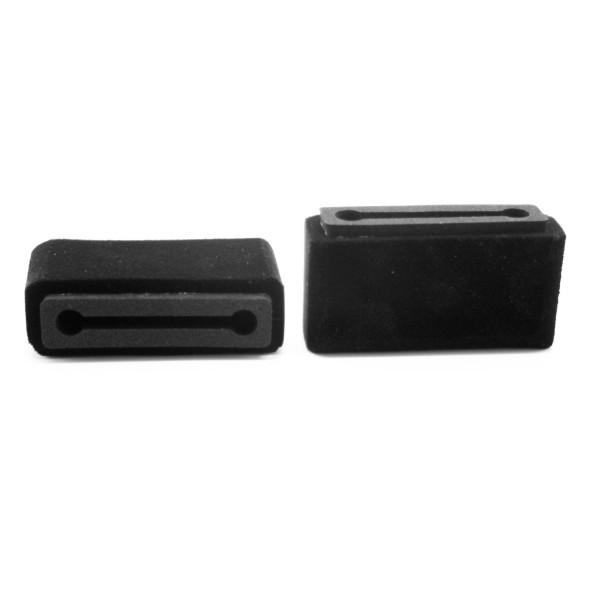 Plopkap voor iPhone 7plus Zwart geflockt