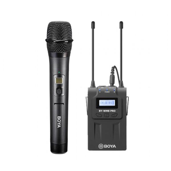 SET: BOYA drahtloses Mikrofon BY-WHM8 PRO + Empfänger BY-RX8 PRO