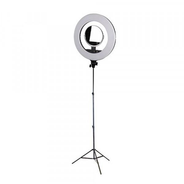 StudioKing Ringlampenset LED-480ASK mit Stativ