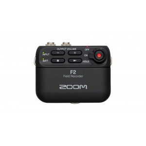 ZOOM F2 audio recorder + lavalier mic.