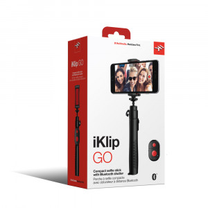 IK Multimedia iKlip GO Selfie-Stick mit Bluetooth-Verschluss