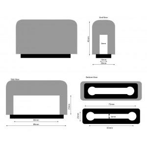 Windschutz für iPhone 6, 7, 8  (NICHT PLUS) weiss Beflockt