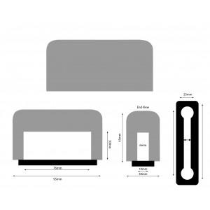 Windschutz für IPhone Plus, Iphone 11, XMAX, schwarz Beflockt
