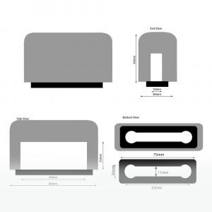 Windschutz für IPhone 4-5 schwarz Beflockt