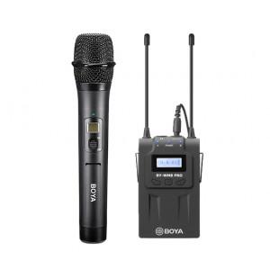 SET: BOYA draadloze microfoon (BY-WHM8 PRO) + ontvanger (BY-RX8 PRO)