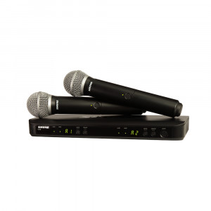 Shure BLX288E/PG58-K14 (614-638 MHz) drahtloses Dual-Handheld-Combo-System