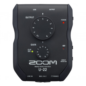 ZOOM U-22 mobiele opname- en prestatie-interface
