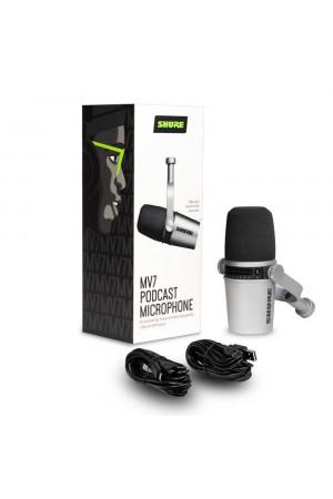 Shure MV7-K dynamische XLR/USB podcast microfoon