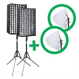 Falcon Eyes Flexibles LED-Panel RX-18T Set 2