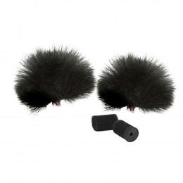 RYCOTE Black Lavalier Windjammer - pair - 2 st.
