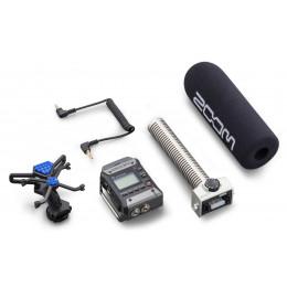 ZOOM F1-SP field recorder met SGH-6 shotgun-microfoon